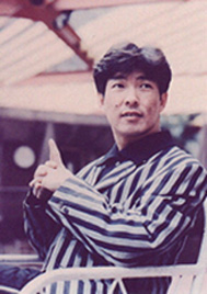 Biao in stripes